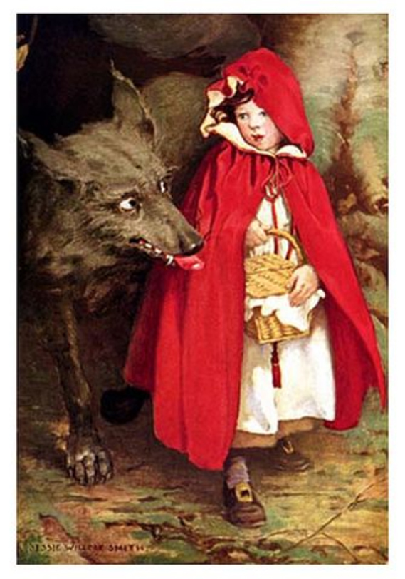 Little Red Riding Hood, by Jessie Wilcox Smith, 1