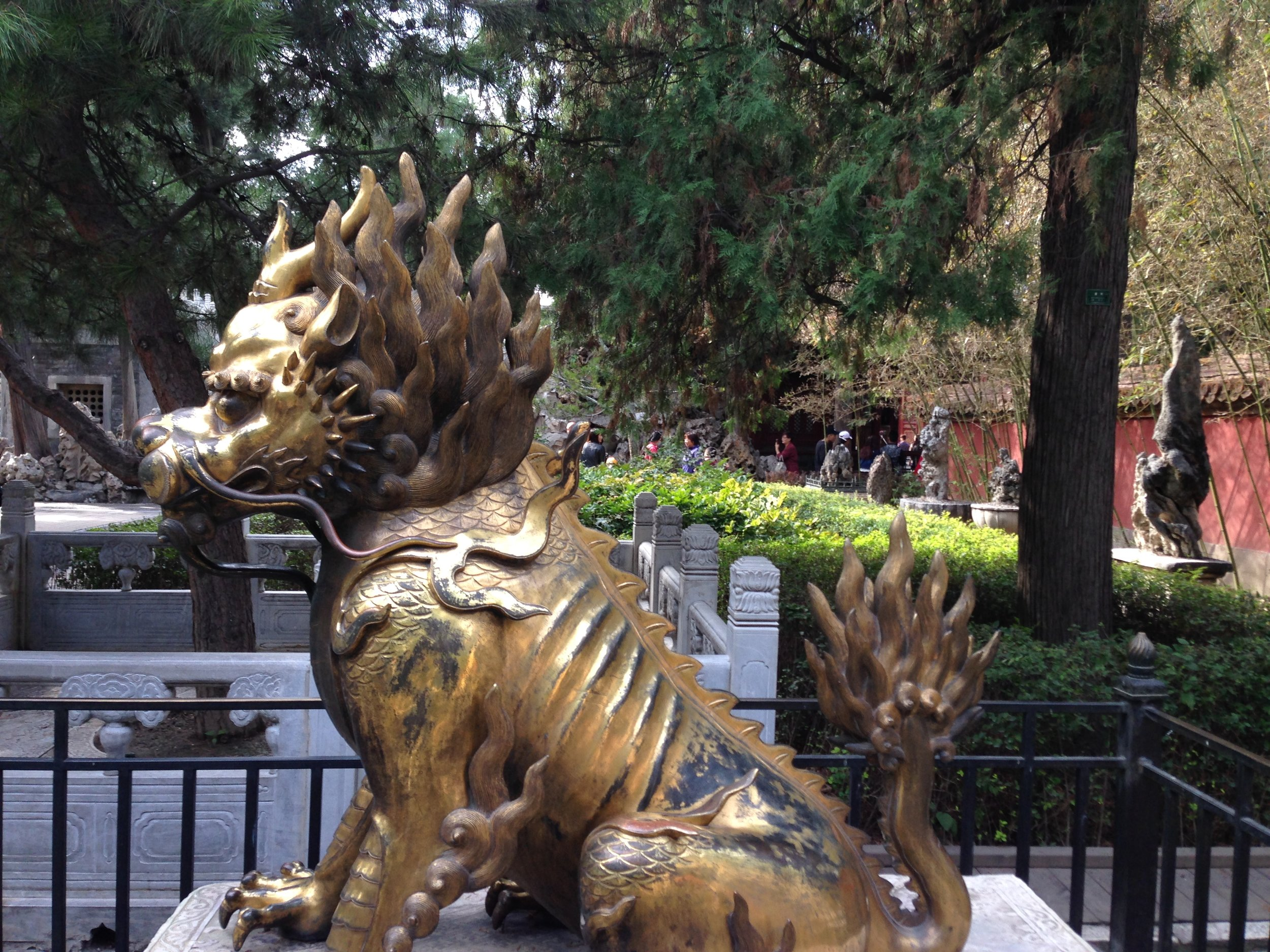 Not a lion but one of the  nine sons of the dragon  in Chinese mythology.