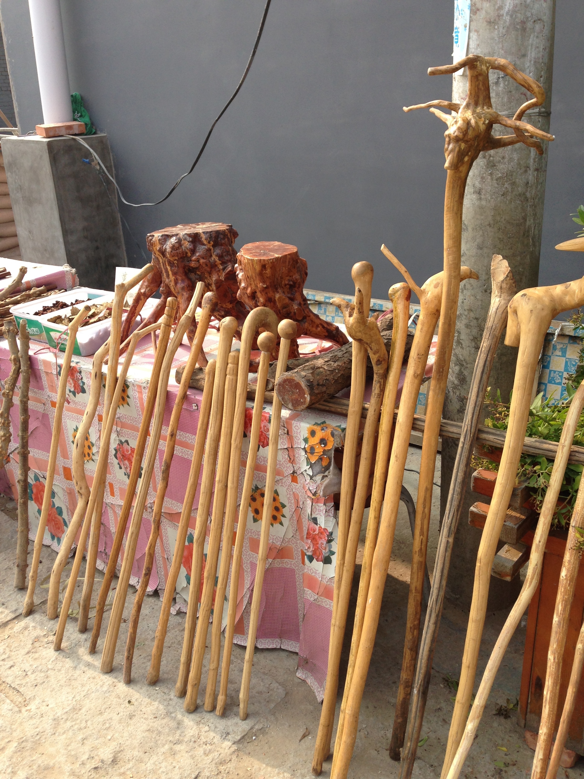 Walking sticks for sale.