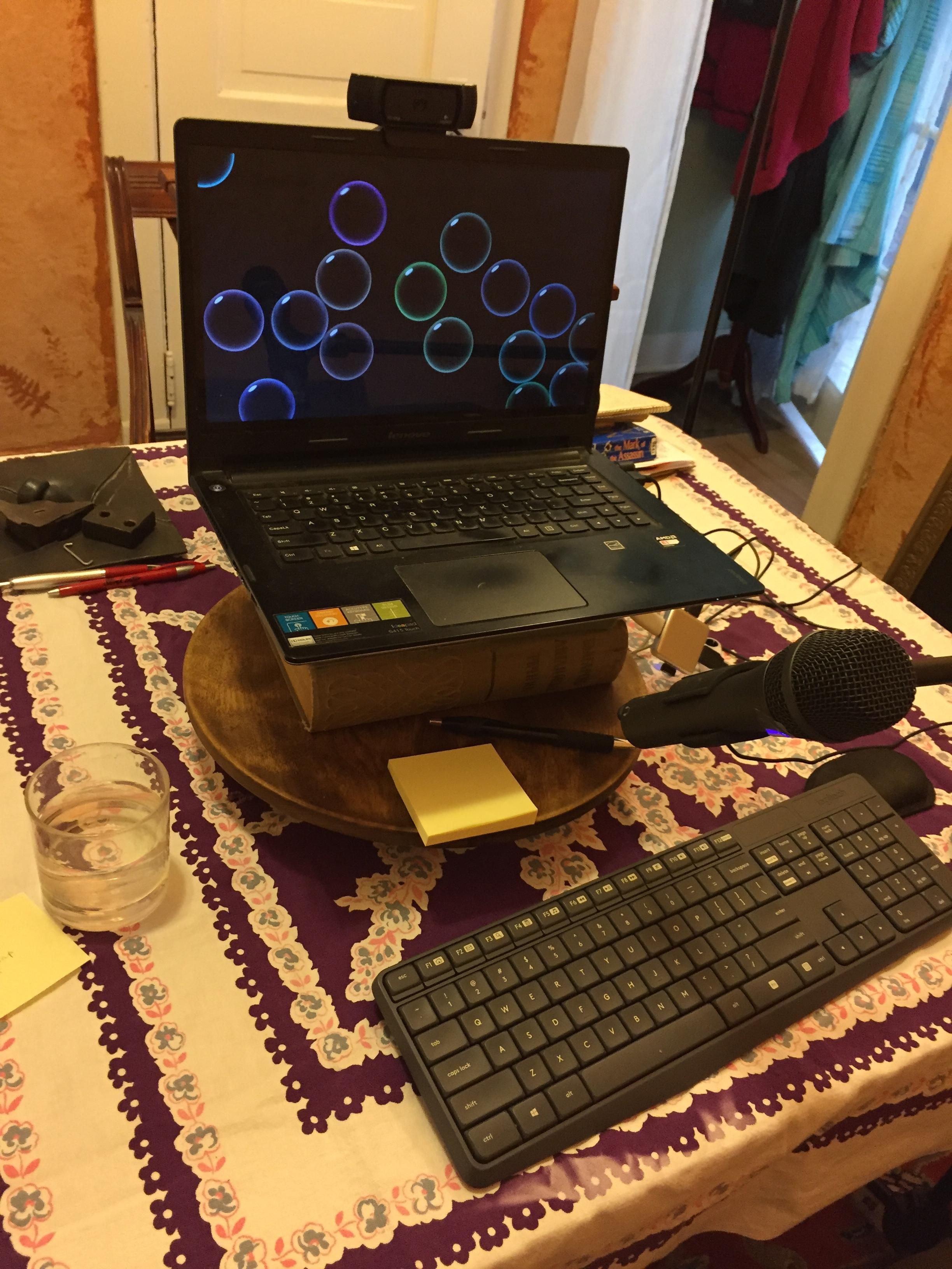 Online storytelling setup