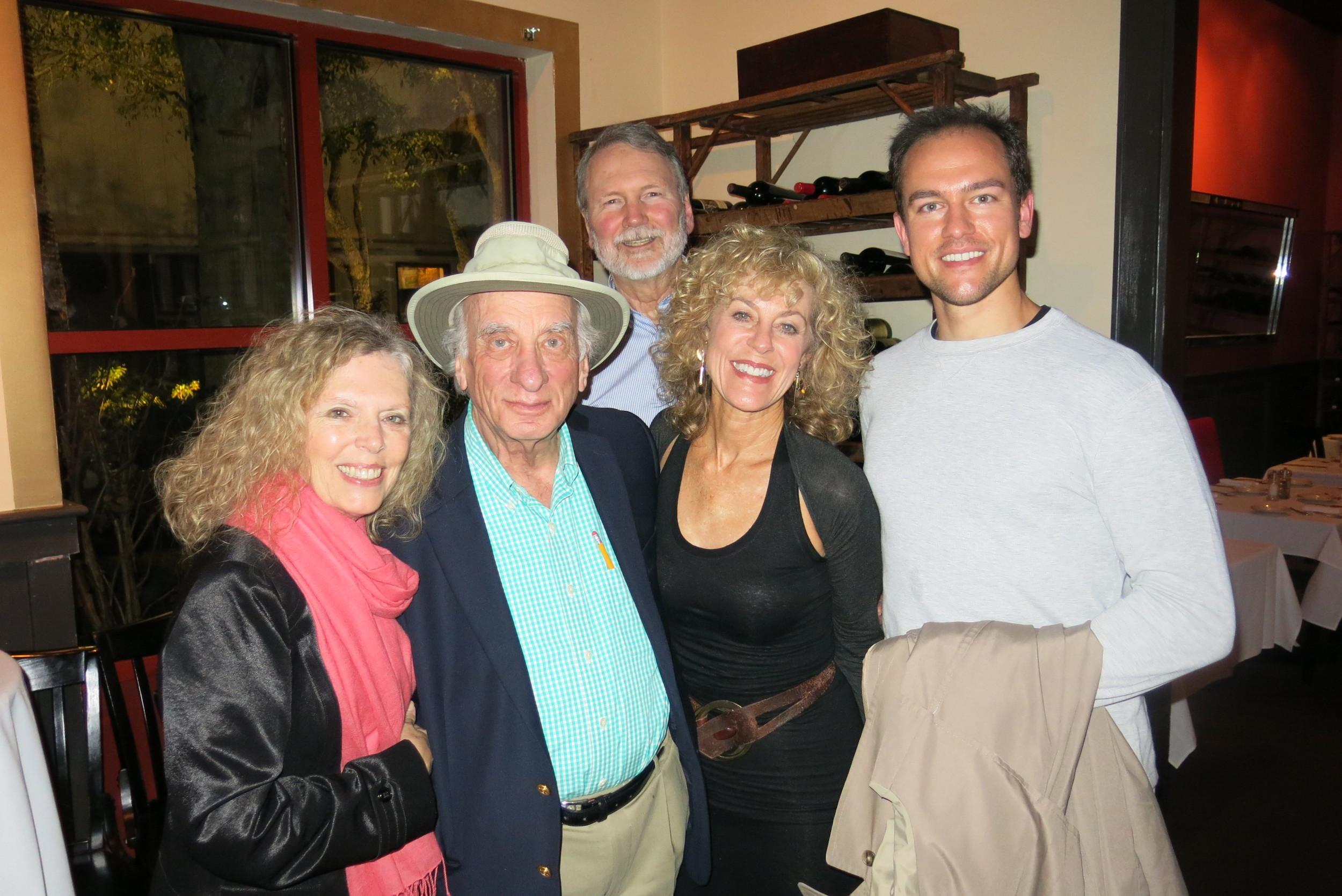 L to R  Jane Tolhurst (photographer), Dick Hyman, Fred Tolhurst (transportation), Judy, Kurt Heidolph