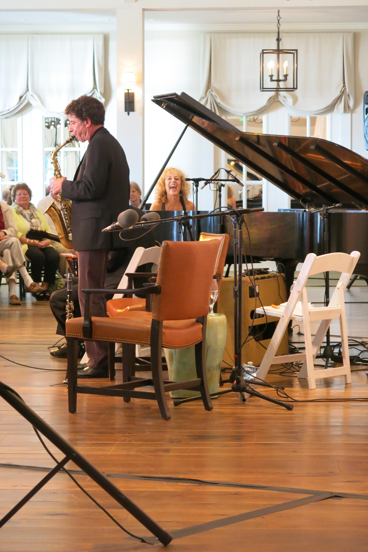Eric Schneider performs with Judy