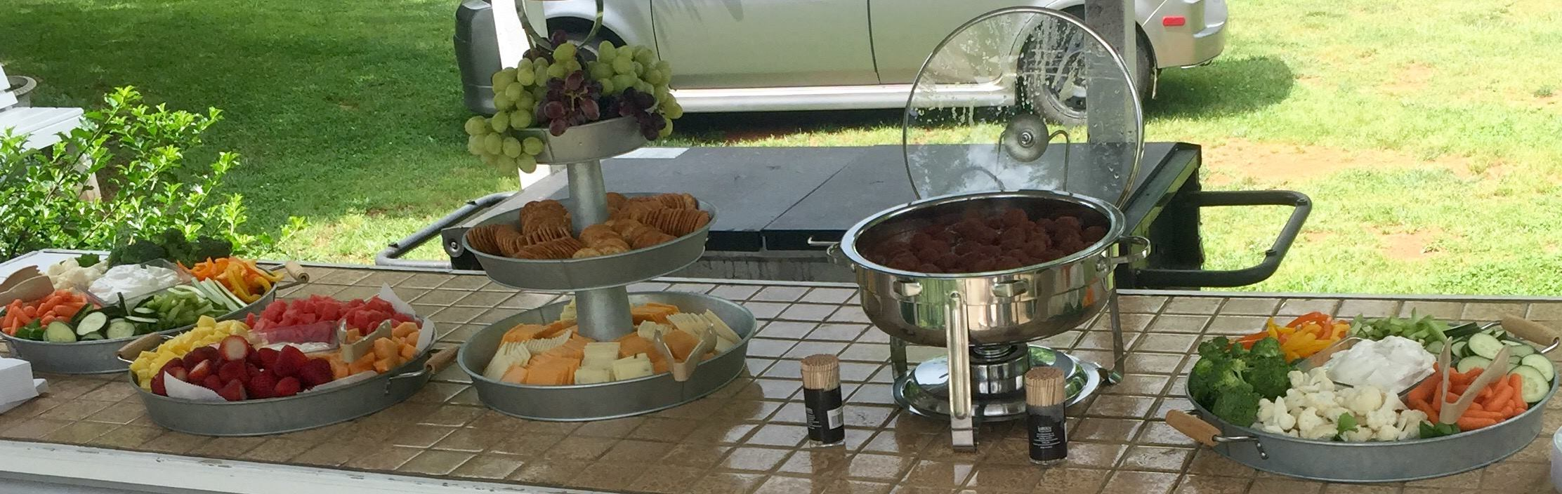 Appetizers at Wedding