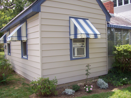 The aluminum siding on this home was painted