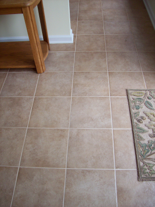 Tile floor installed over Durock