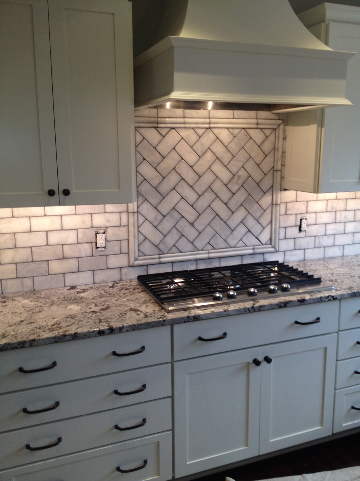 A backsplash was added to this new kitchen