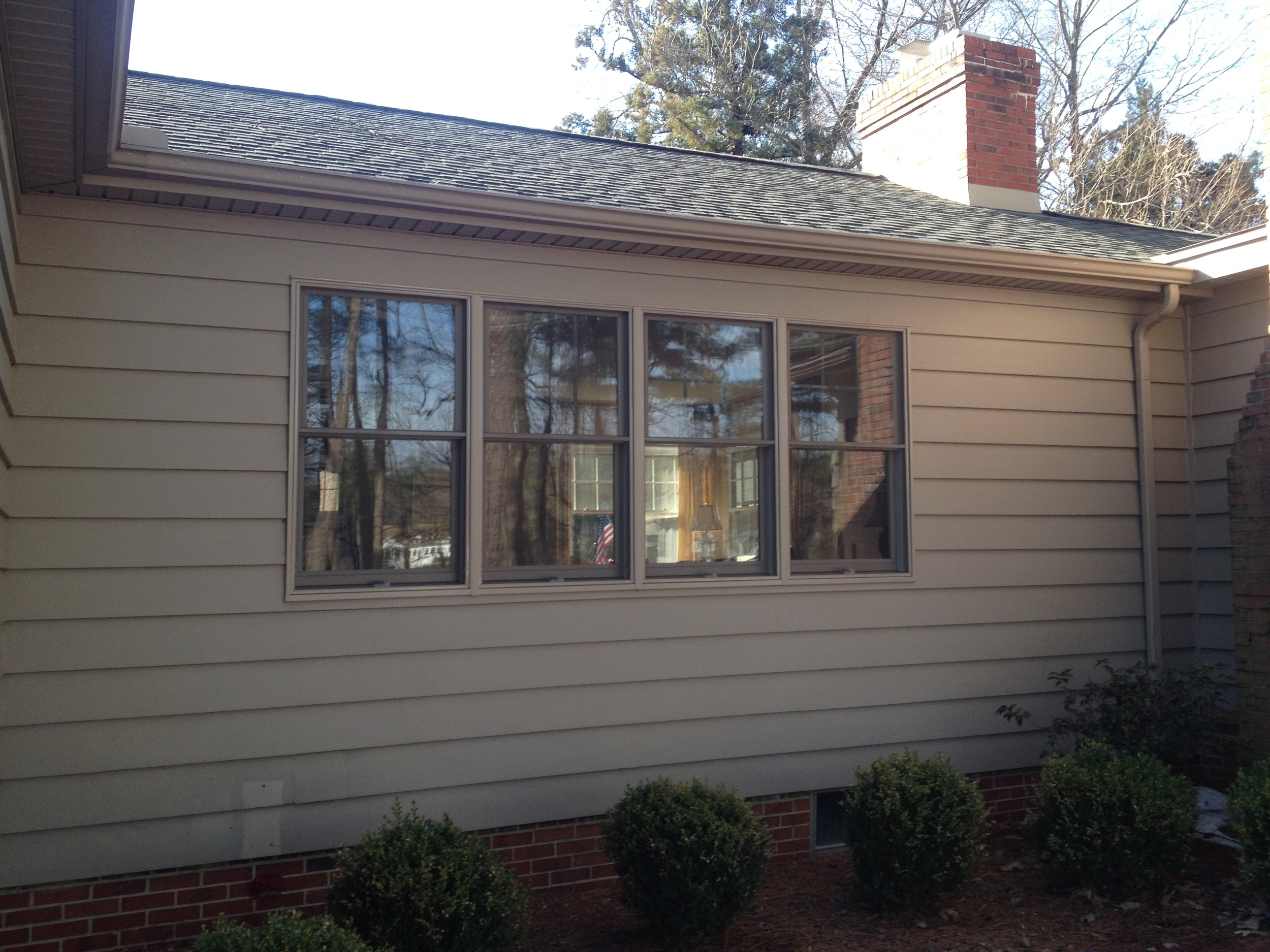 A new set of Andersen windows was installed