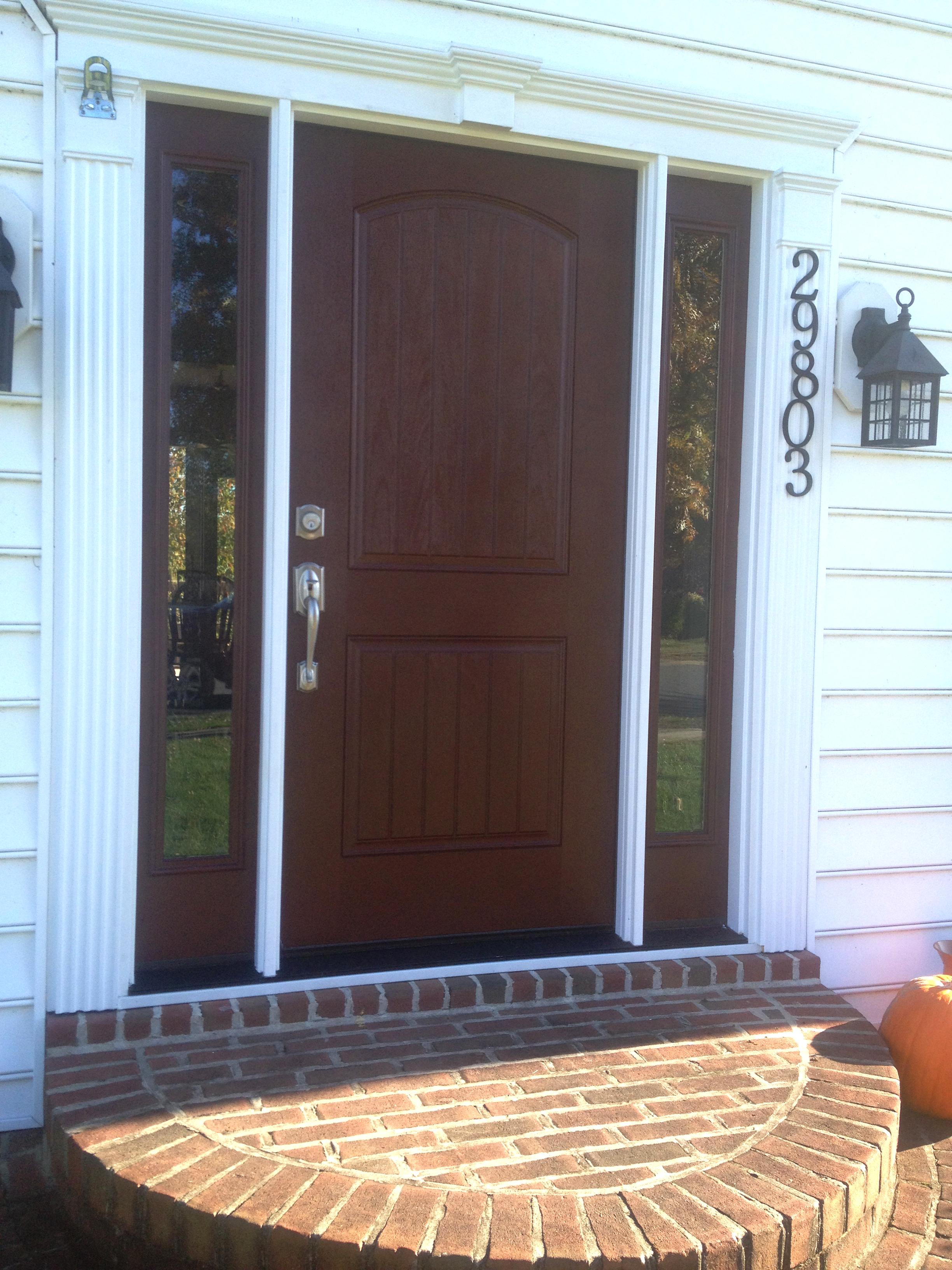A new fiberglass front door.