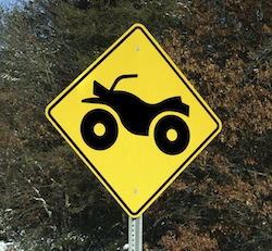 The highest percentage of fatal ATV accidents occurs on roadways. (See  infographic .)