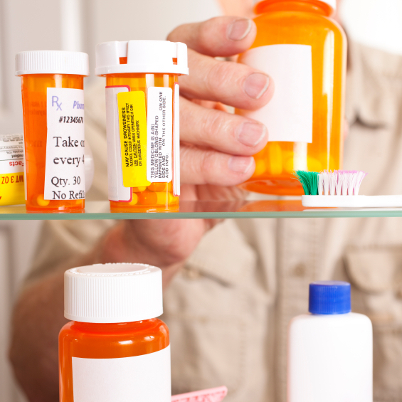 Storage areas for medications should be well-lit