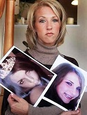 Tina Meier with pictures of her daughter Megan.