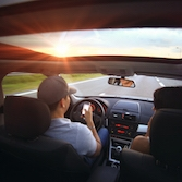 Teens who text and drive are  outside of their lane about 10 percent of the time.