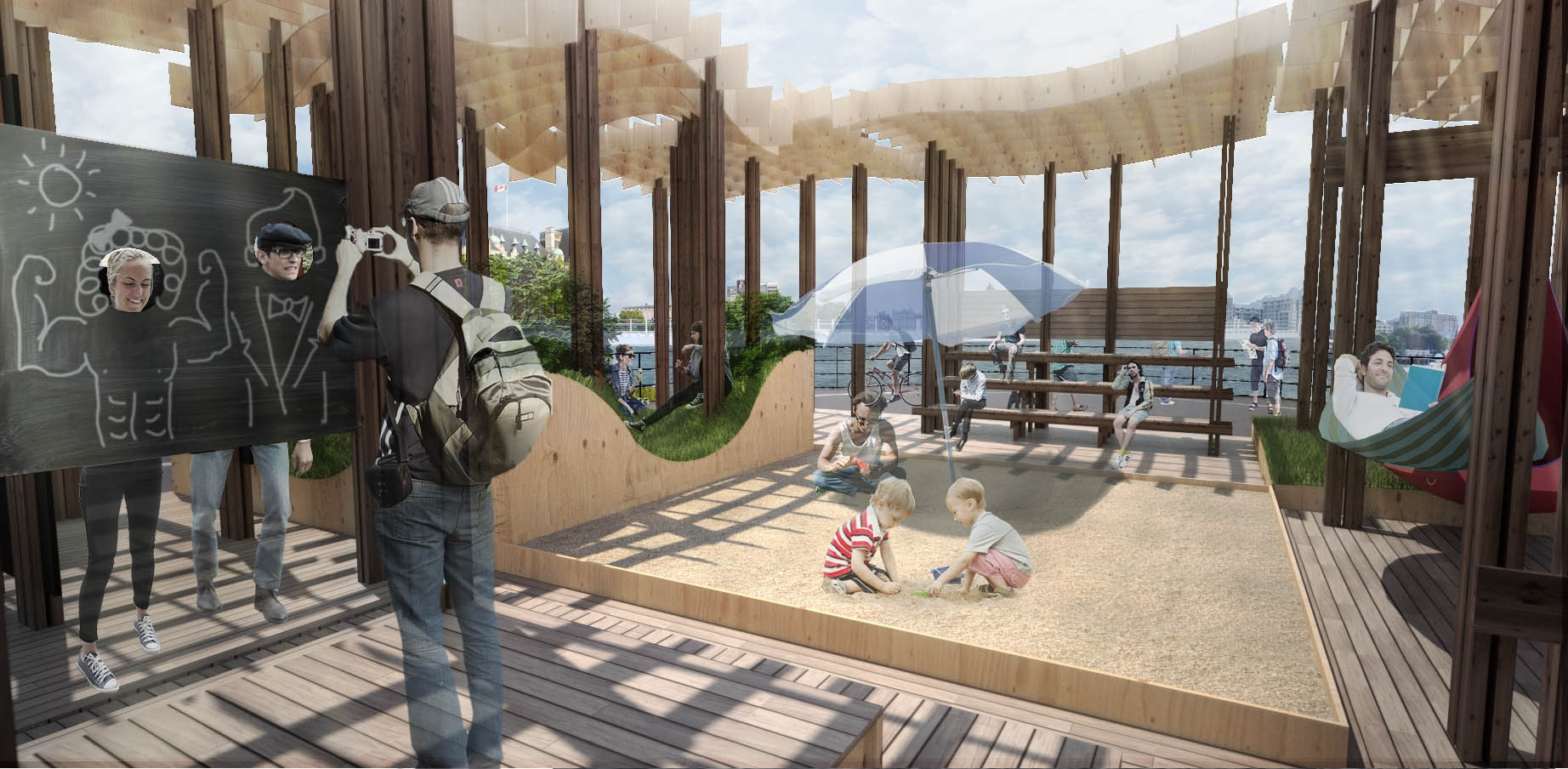 See more on our   Ship Point Pop-up project page  .
