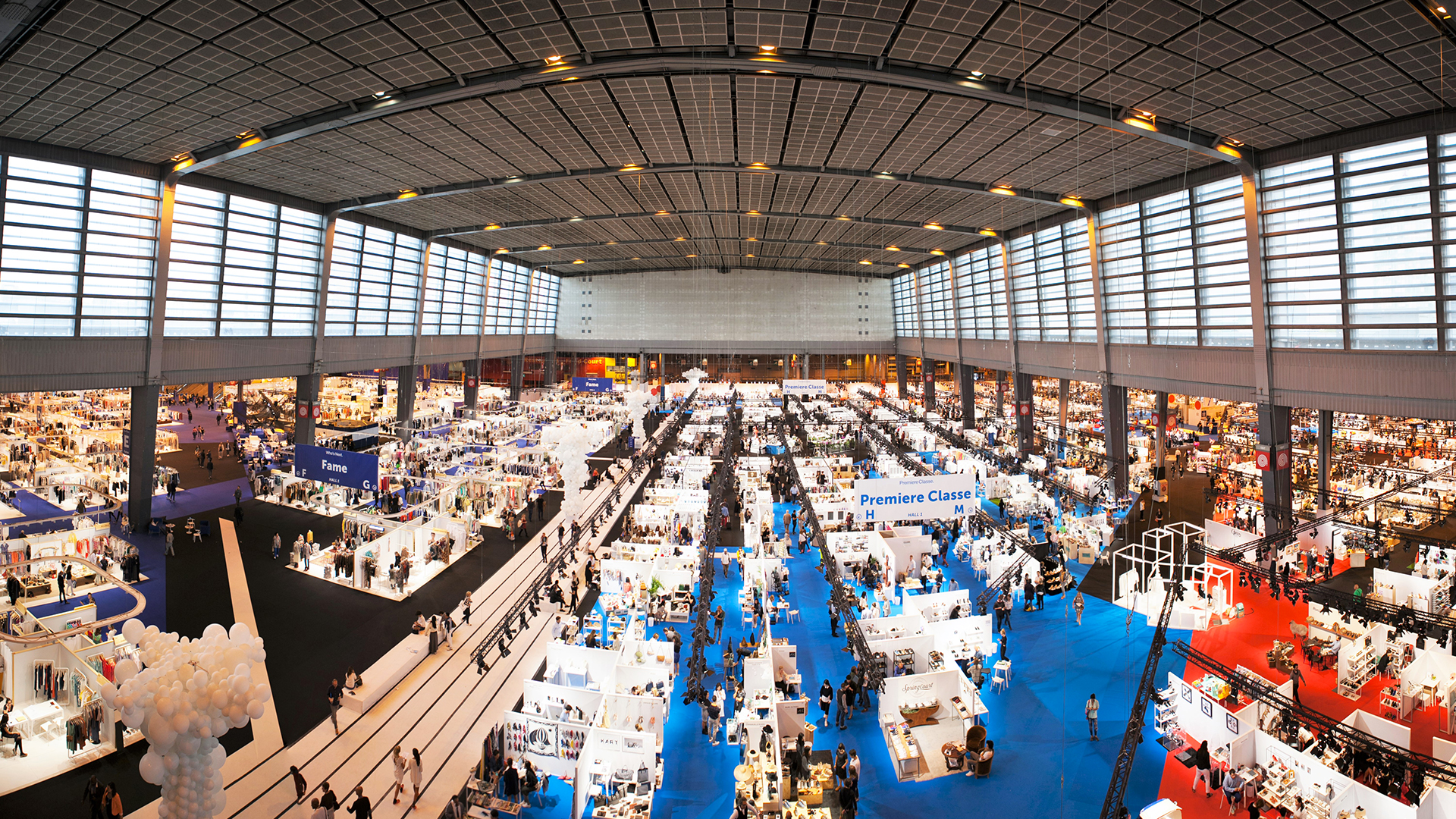 A great example of the overwhelming, over-standardized tradeshow. Photo from the  Who'sNext Tradeshow.