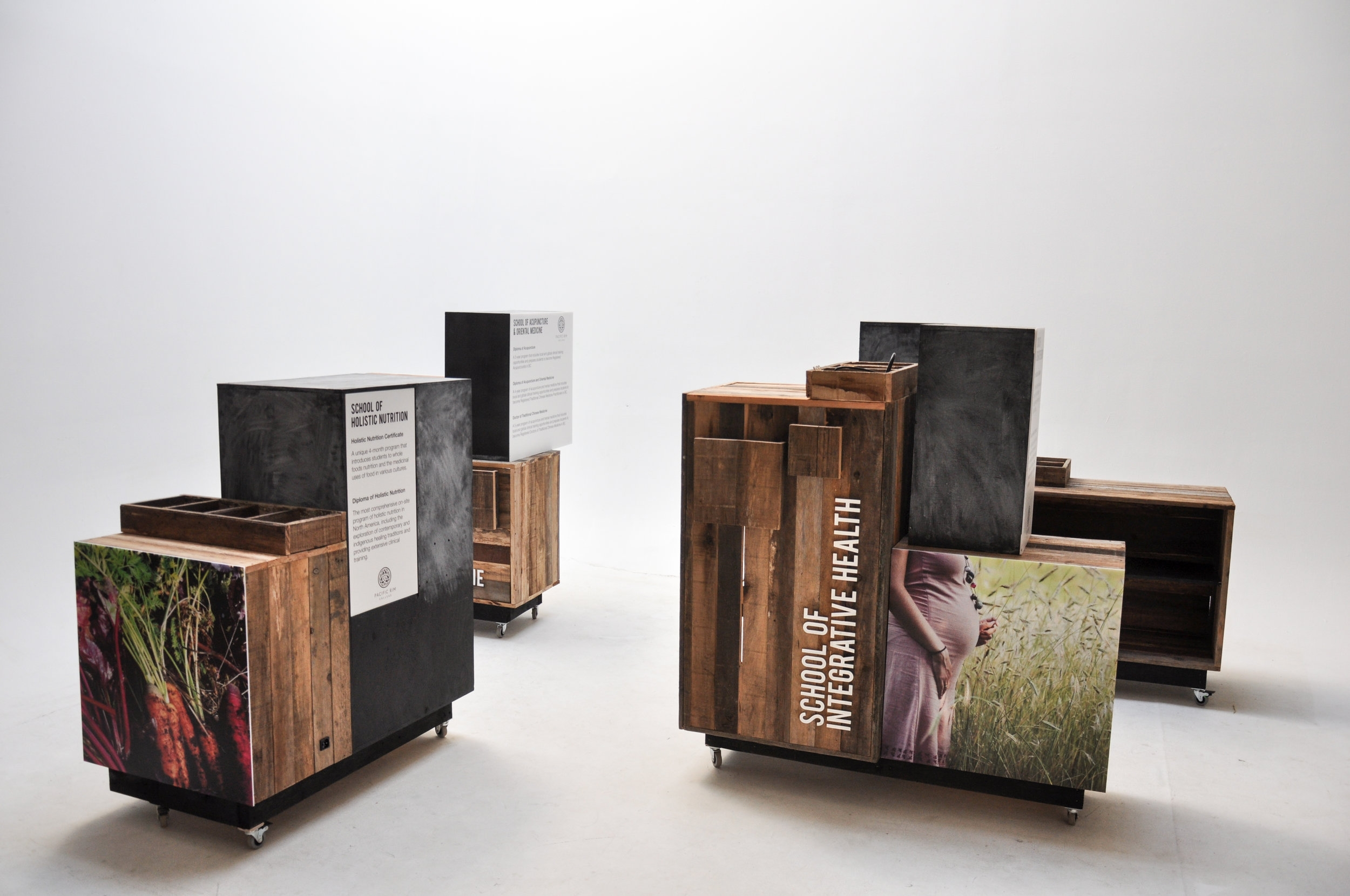 Studio Robazzo designed this custom modular outreach booth for  Pacific Rim College . See the project in detail  here .