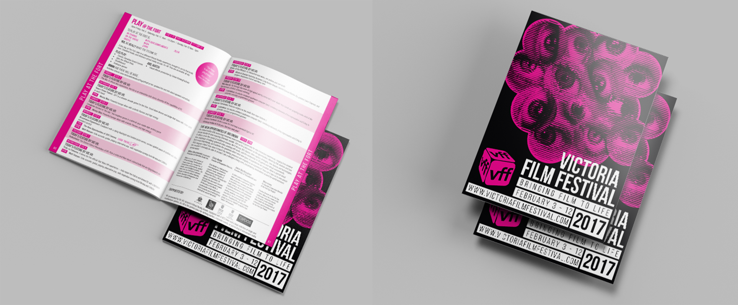 Our graphic design team also tackled the 110-page Program Guide for this year's Film Festival, complete with information on all the films being shown and a schedule of programming.
