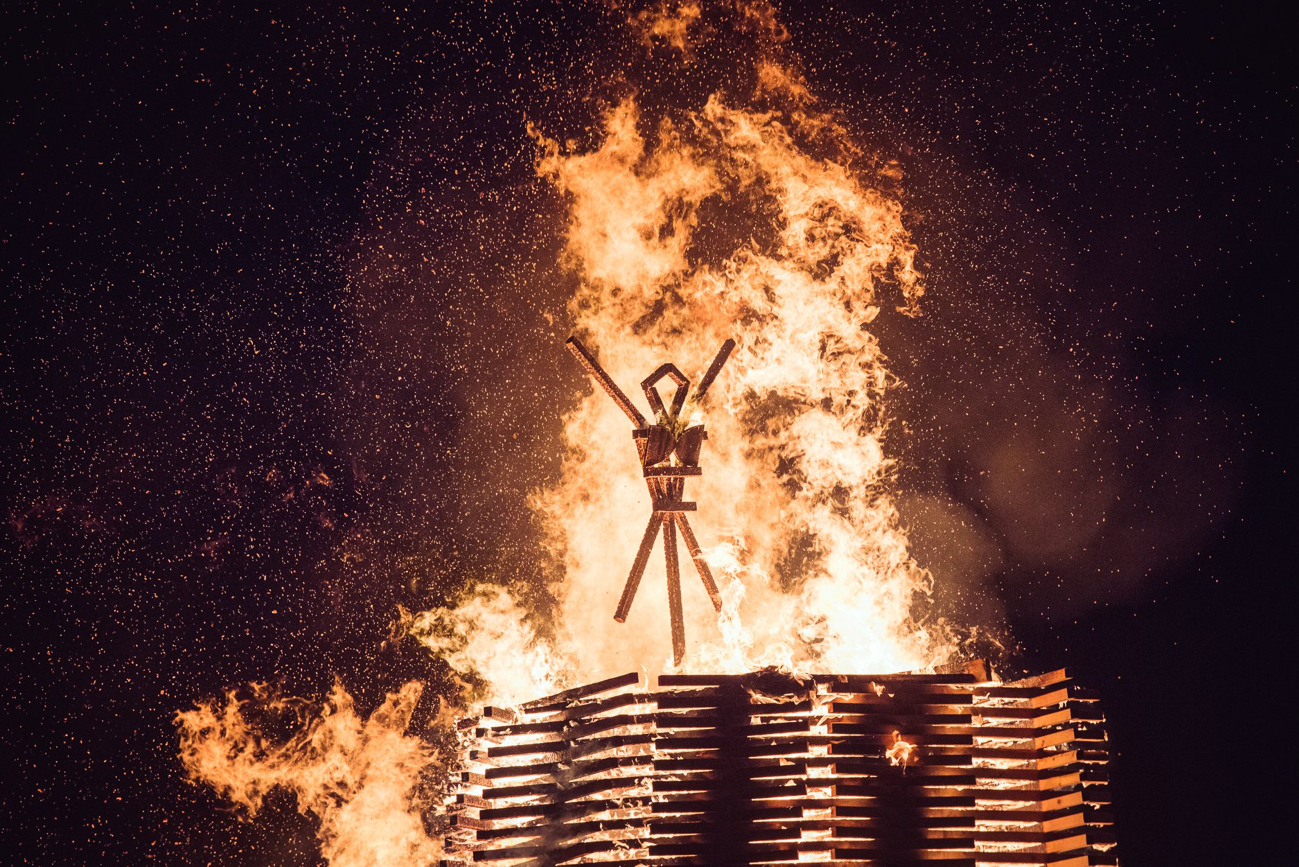 In May of 2018, we were delighted to be approached by the organizers of Otherworld (Vancouver Island's regional Burning Man event) with a request to design an Effigy, which would burn on the second night of the 3-day festivities.