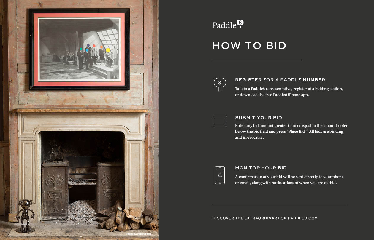 Print ad for Paddle8