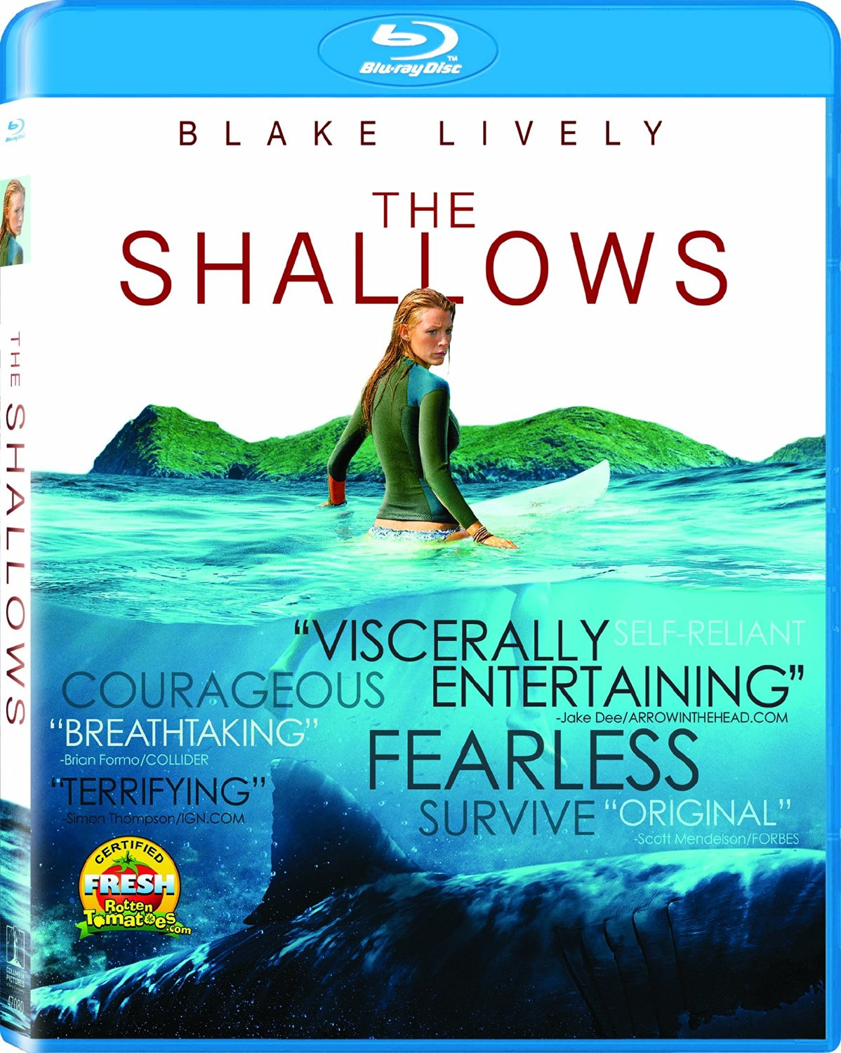 In THE SHALLOWS, Blake Lively is battling a shark and it ain't gorgeous, conniving models like the ones Dakota fanning has to face in NEON DEMON.. It's one, smart, big hungry shark. This is a film that took me by surprise. In an industry that have sharks in tornadoes and doing other stupid shit, THE SHALLOWS is a true horrifying observation at the possibility of death at sea. it's scary, and tension runs high once the action gets going.   BUY .