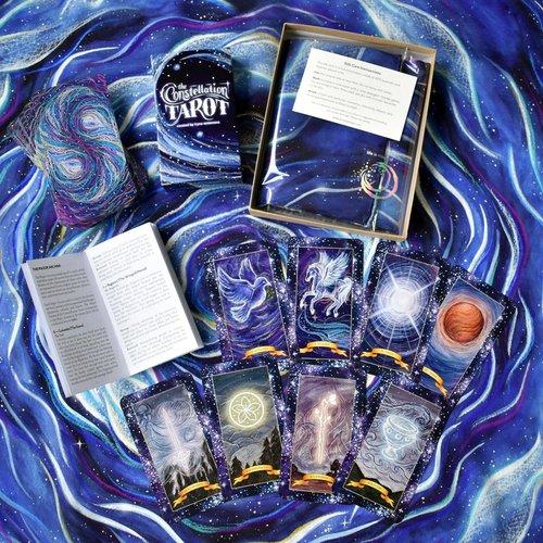 Tarot Card Reading with Silk Altar Cloth and the Constellation Tarot Cards