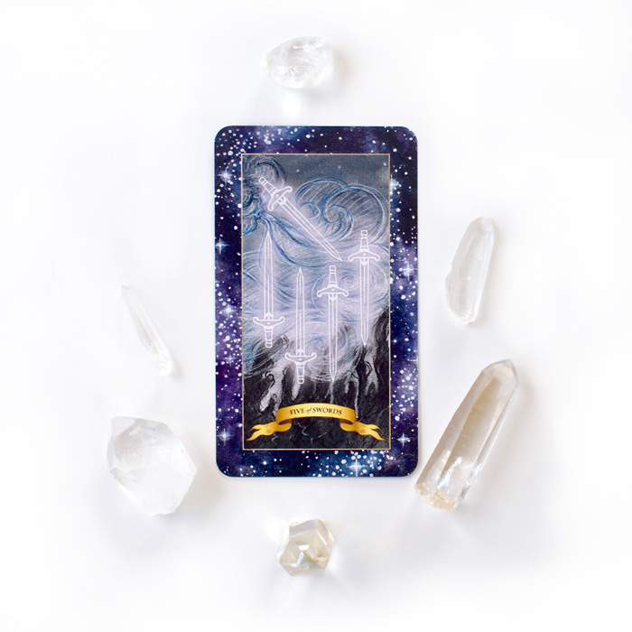 Tarot Card Meanings - 5 of Swords