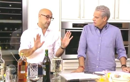 STANLEY TUCCI'S LEMON RISOTTO WITH WHOLE ROASTED BRANZINO