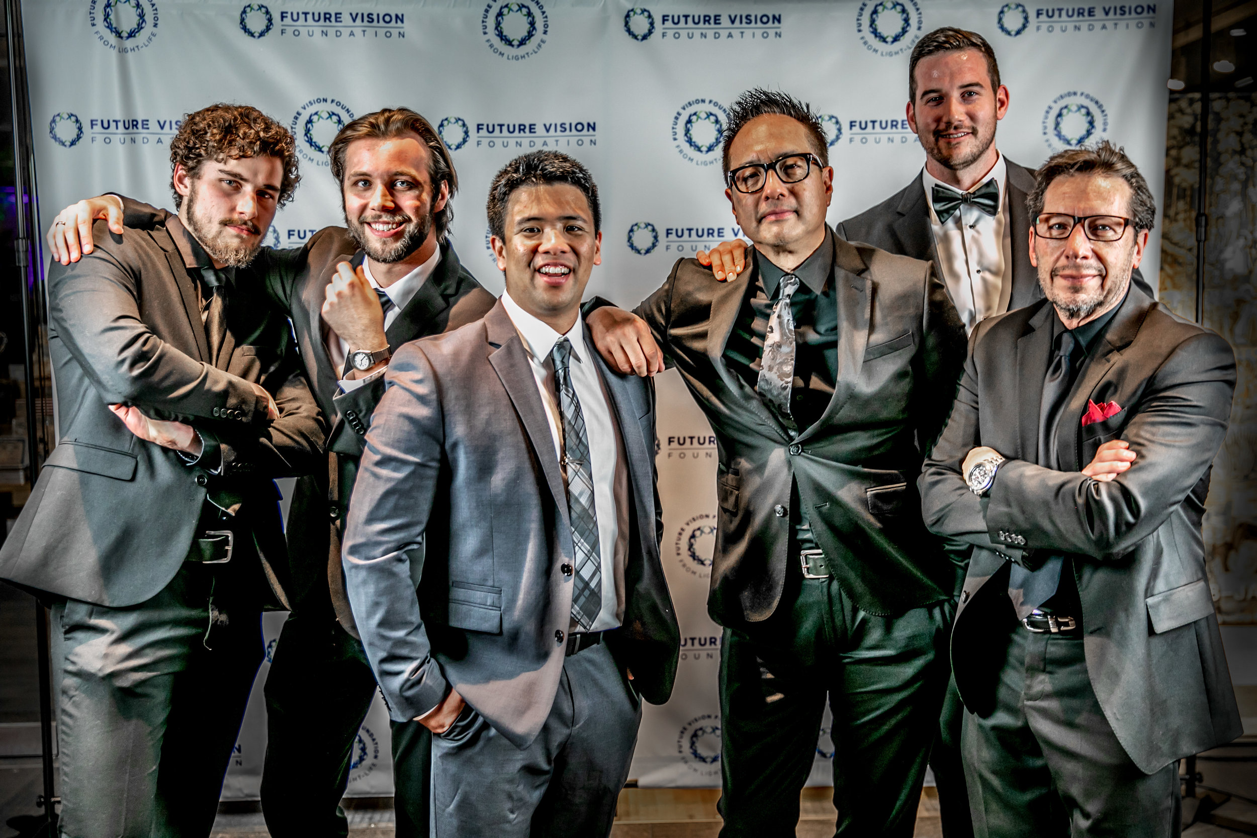 Alec, Adam, myself, James P., Tico, and Henry looking dapper at the Future Vision Foundation Awards.