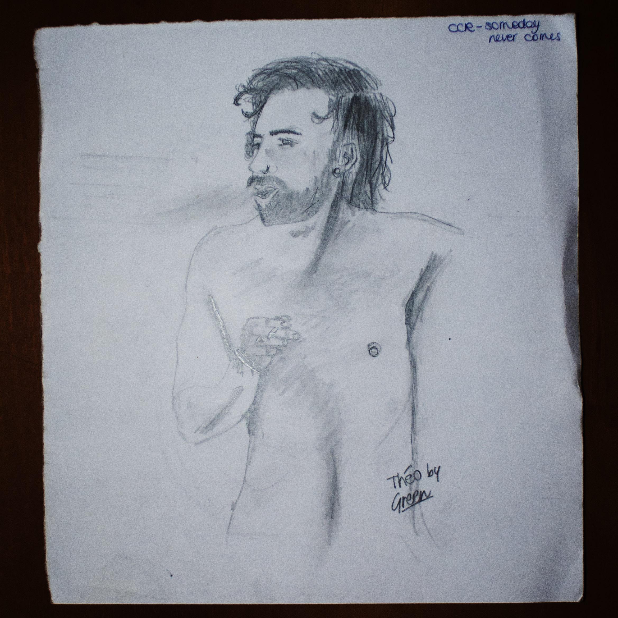 A simple beard man