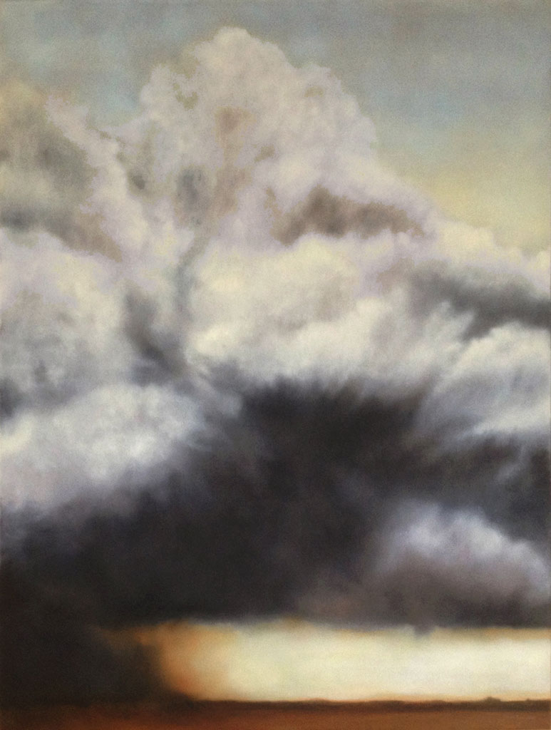 """Rolling From the West. Oil on linen, 40"""" x 30"""""""
