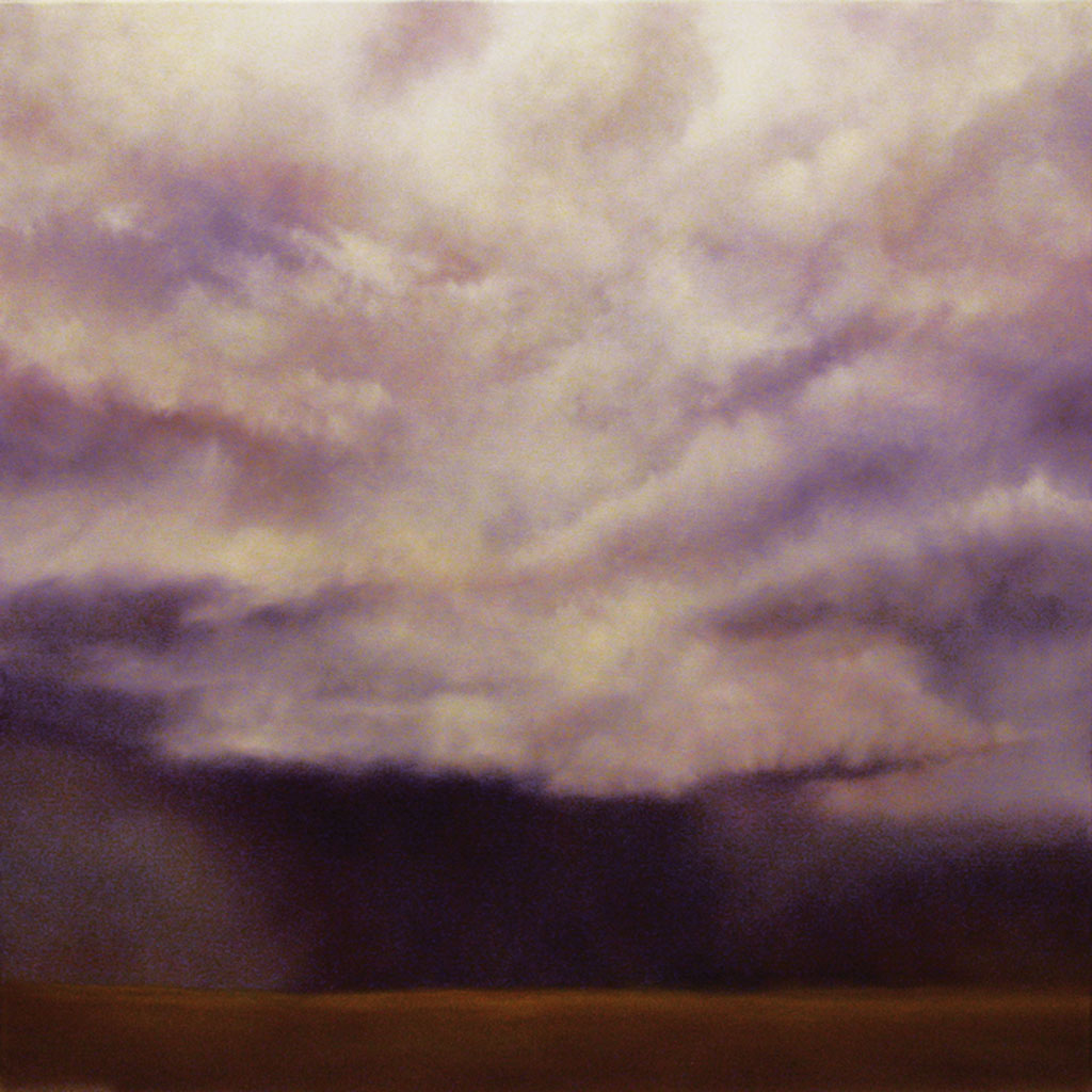 """South Central Storm. Oil on linen, 40"""" x 30"""""""