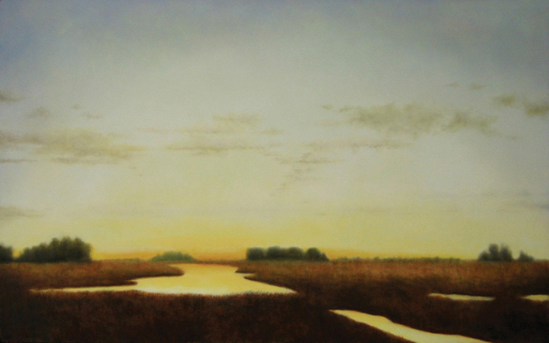 "Precious Territory. Oil on panel, 30"" x 48"""