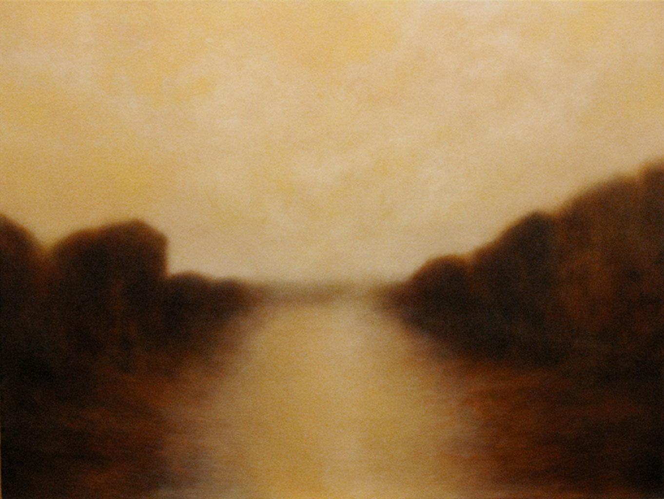"""River Mist. Oil on linen, 30"""" x 40"""""""