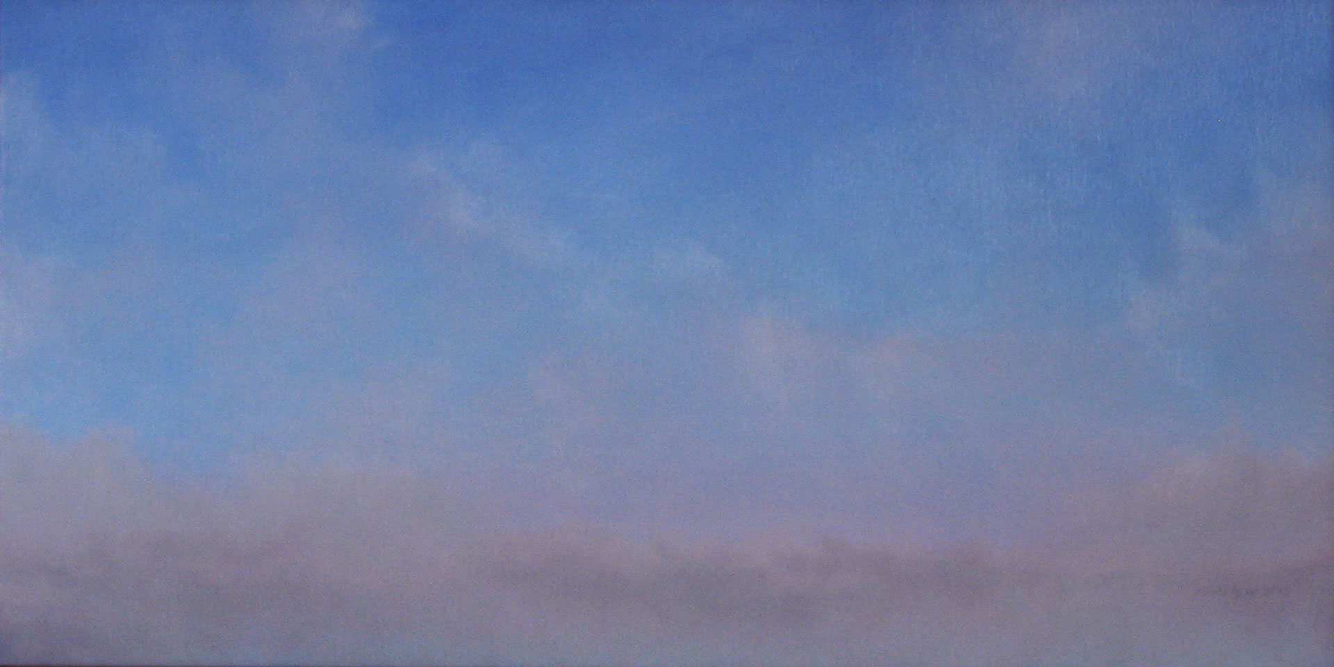"""From the West II. Oil on canvas, 12"""" x 24"""""""