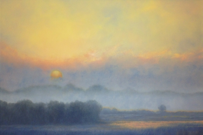 """Morning. Oil on canvas, 24"""" x 36"""""""