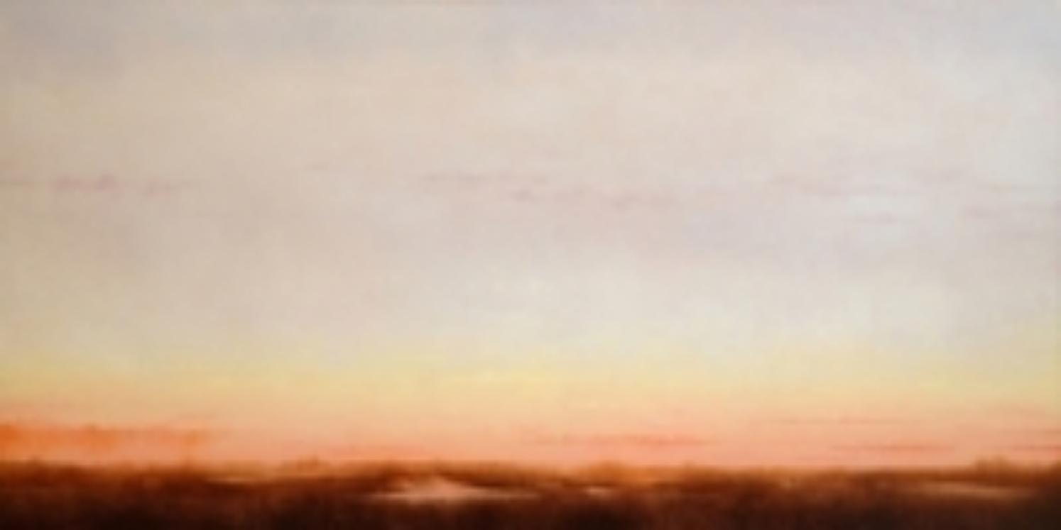 """Sunset Over Marsh III. Oil on canvas, 24"""" x 48"""""""