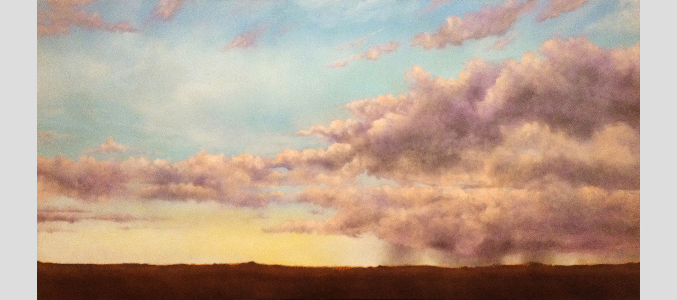"""Trailing Remains. Oil on linen, 30"""" x 60"""""""