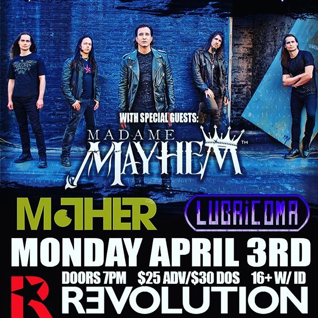 We are excited to announce we will be playing with @scottstapp and @artofanarchy_ on Monday April 3rd at @revolution_li .. message for tix! #lubricoma #live #instagood #instamood #picoftheday #bestofday #scottstapp #artofanarchy #creed #bleedingfingersbloodyguitar