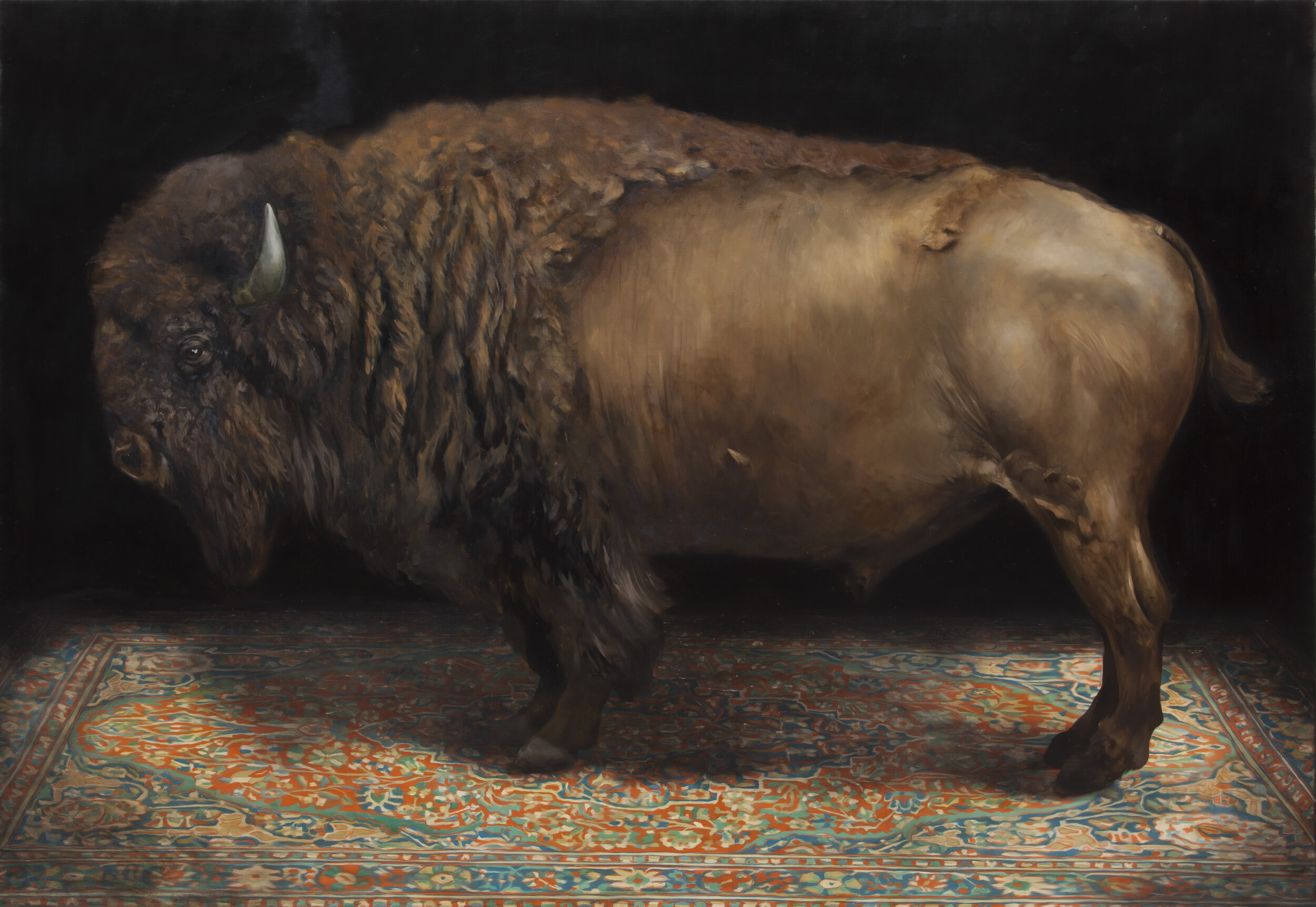 On the night of the big freeze (American Buffalo), 2017, oil on canvas, 100x145cm.jpg