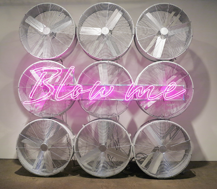 Industrial Fans, Neon Signs  119-1/2 x 119-1/2 x 19-1/2 in   (304x304x50cm)