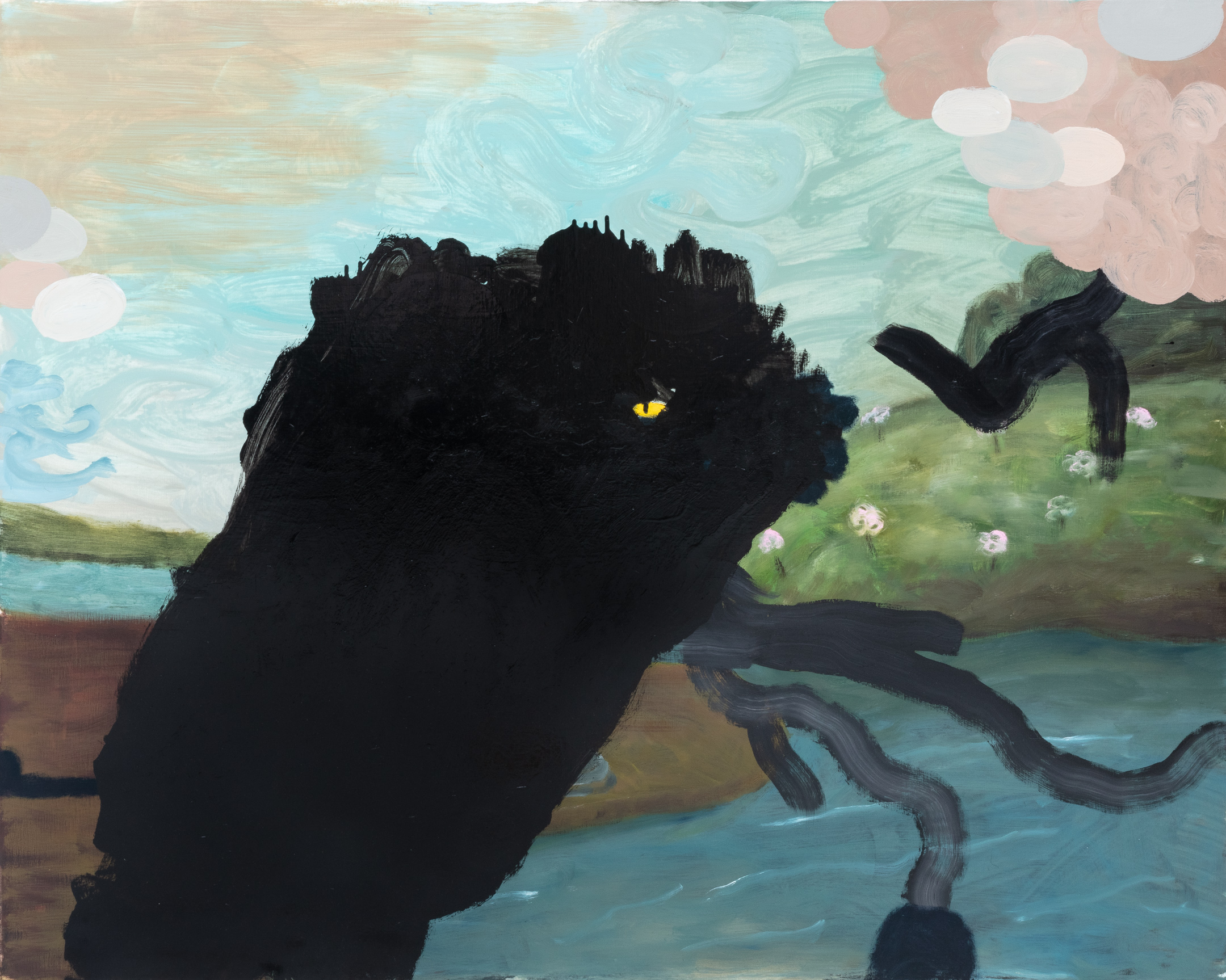 """Wadda Wooda II, 2019    60"""" x 48"""", oil on canvas"""