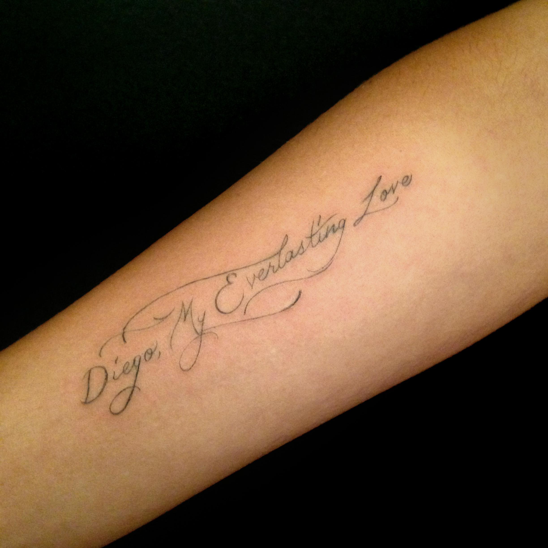 fine line single needle Justin Turkus Philadelphia best tattoo artist lettering diego.jpg