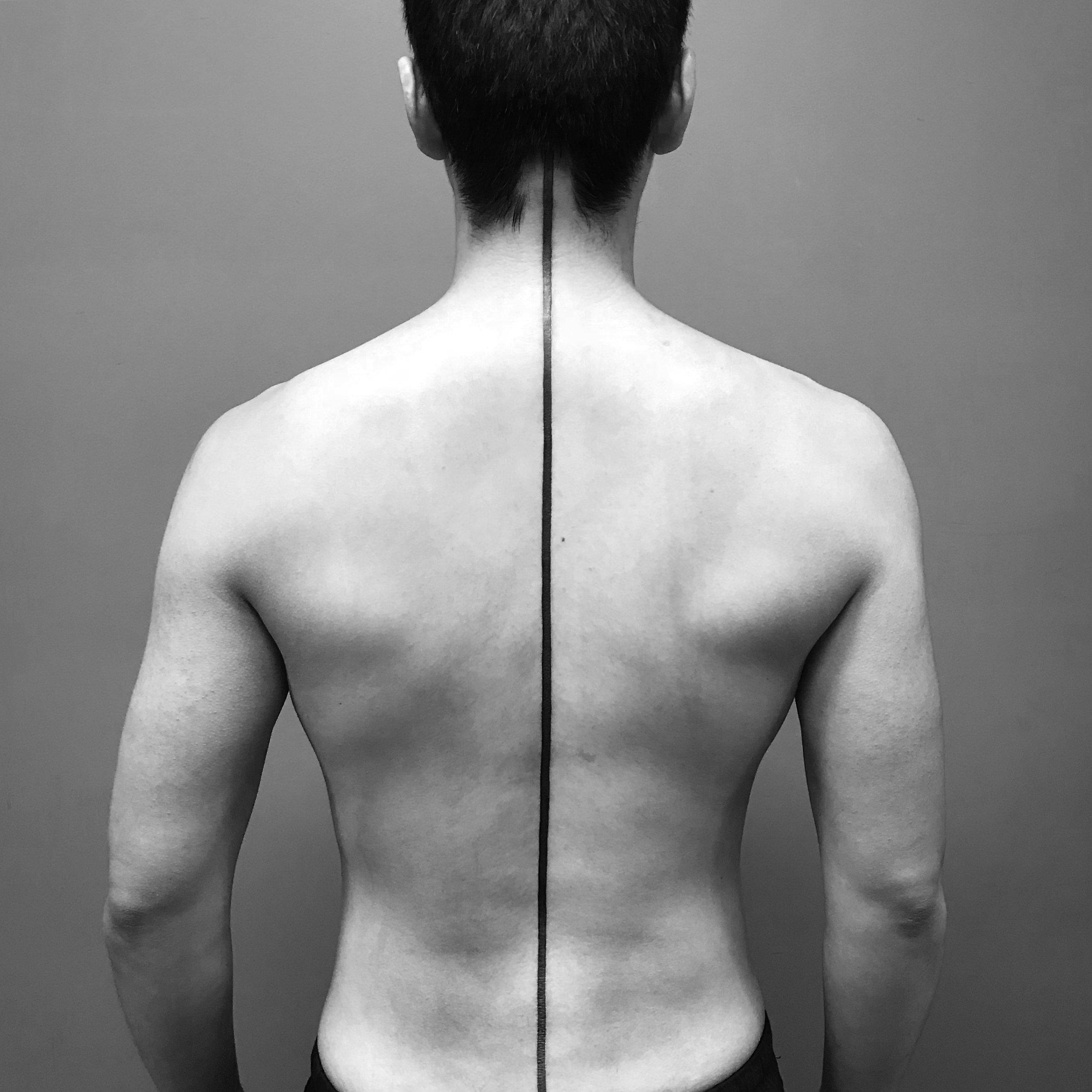 fine line single needle Justin Turkus Philadelphia best tattoo artist spine line linework.jpg