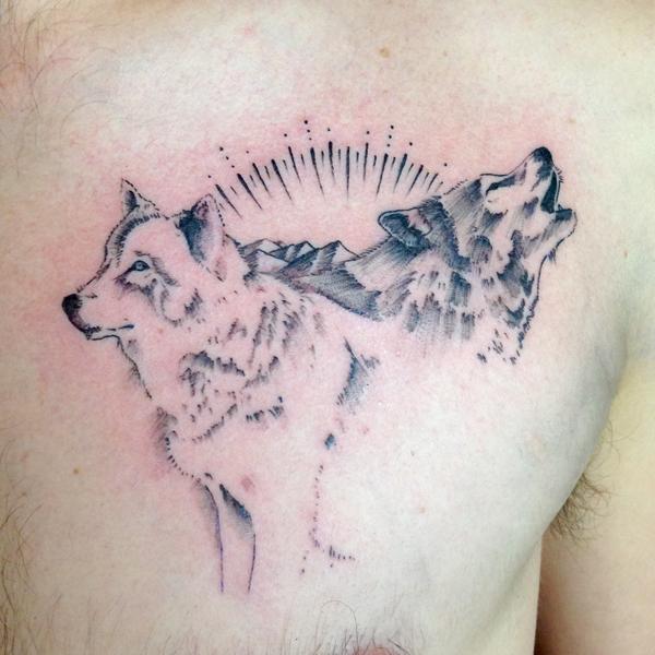fine line single needle Justin Turkus Philadelphia best tattoo artist wolves.jpg