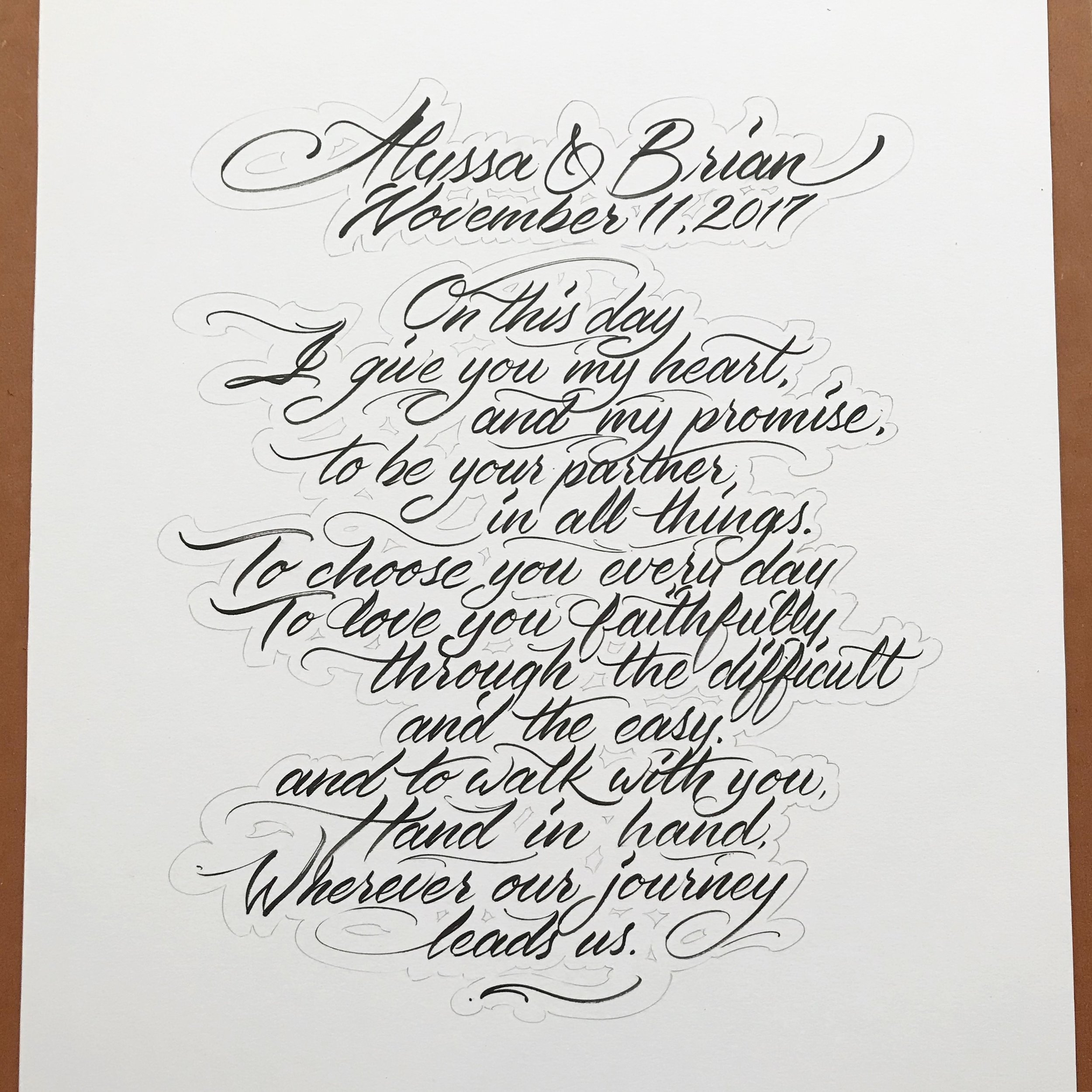 graphic design Justin Turkus Philadelphia tattoo artist wedding vows calligraphy script.jpg