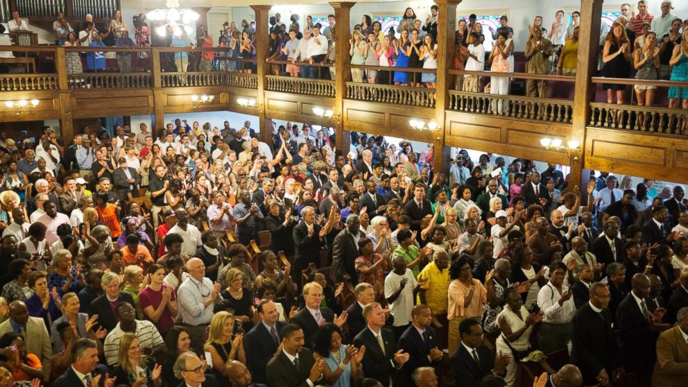 Such a wonderful sight to see brothers and sisters gathered together in the name of Jesus.