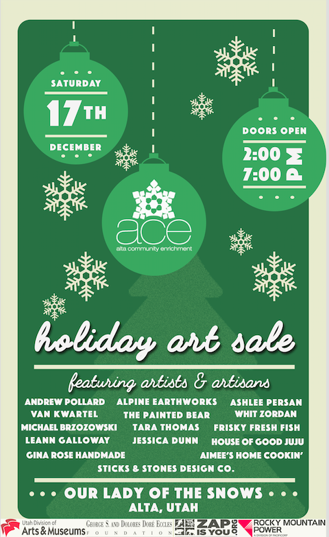 2017 Alta Holiday Art Sale   Created for Alta Community Enrichment
