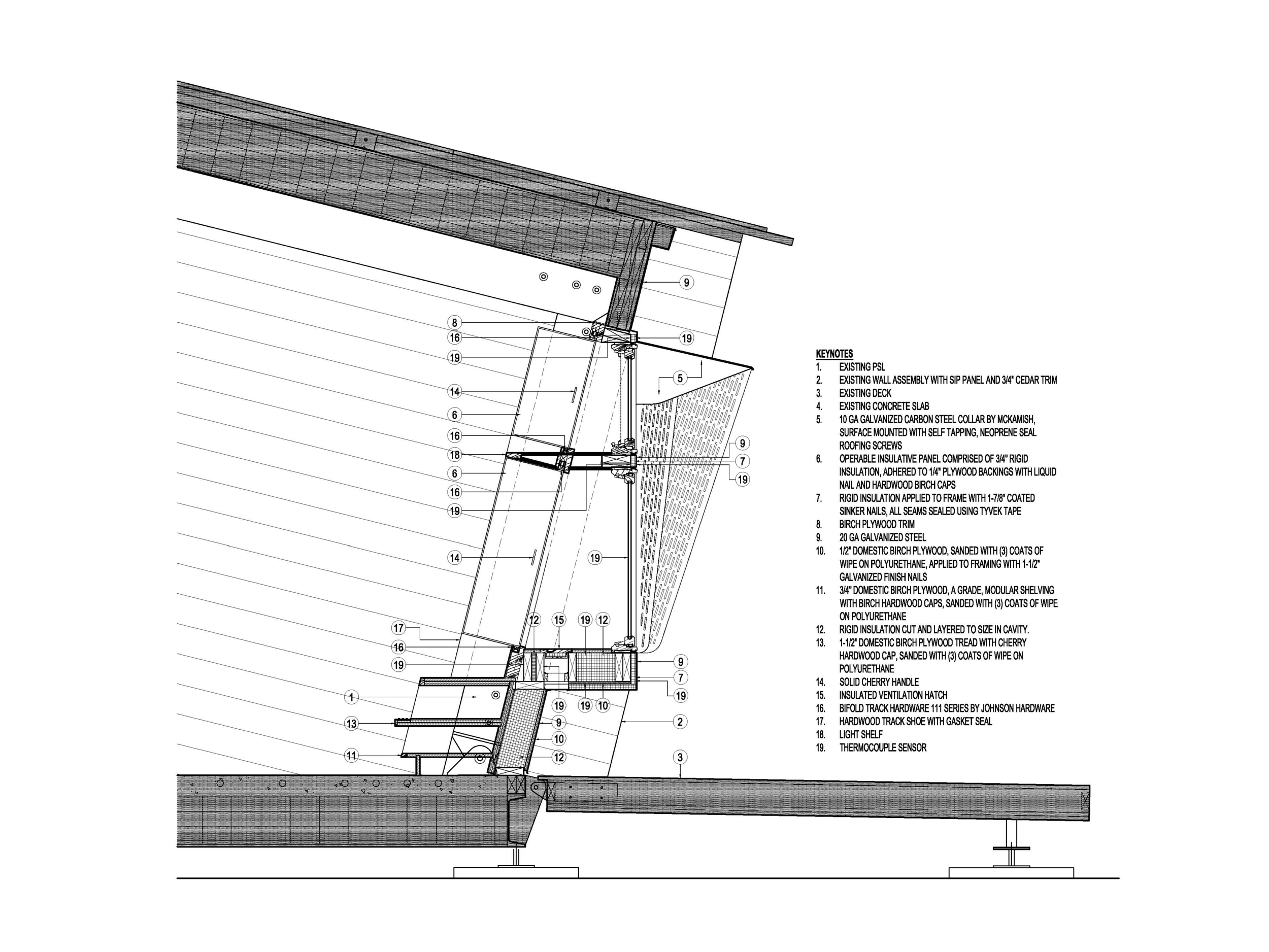 RE_VIEW wall section excerpt from construction document set.