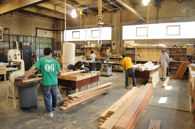 Lumber profile milling for modular wall frames.