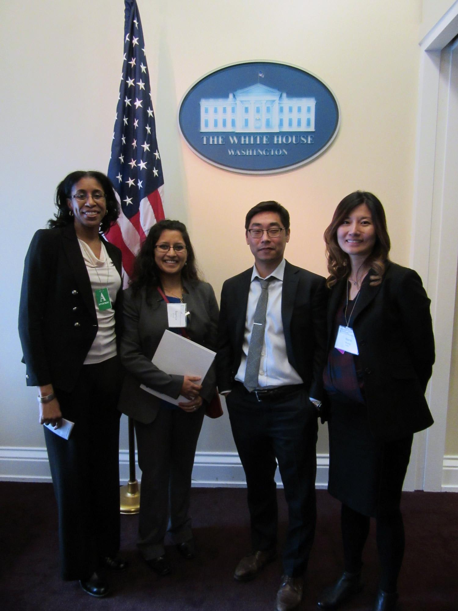 The Asset Score Tool team (L-R): Erica Cochran (SoA), Supriya Goel (PNNL), Andrew Burr (DOE), Nora Wang (PNNL)