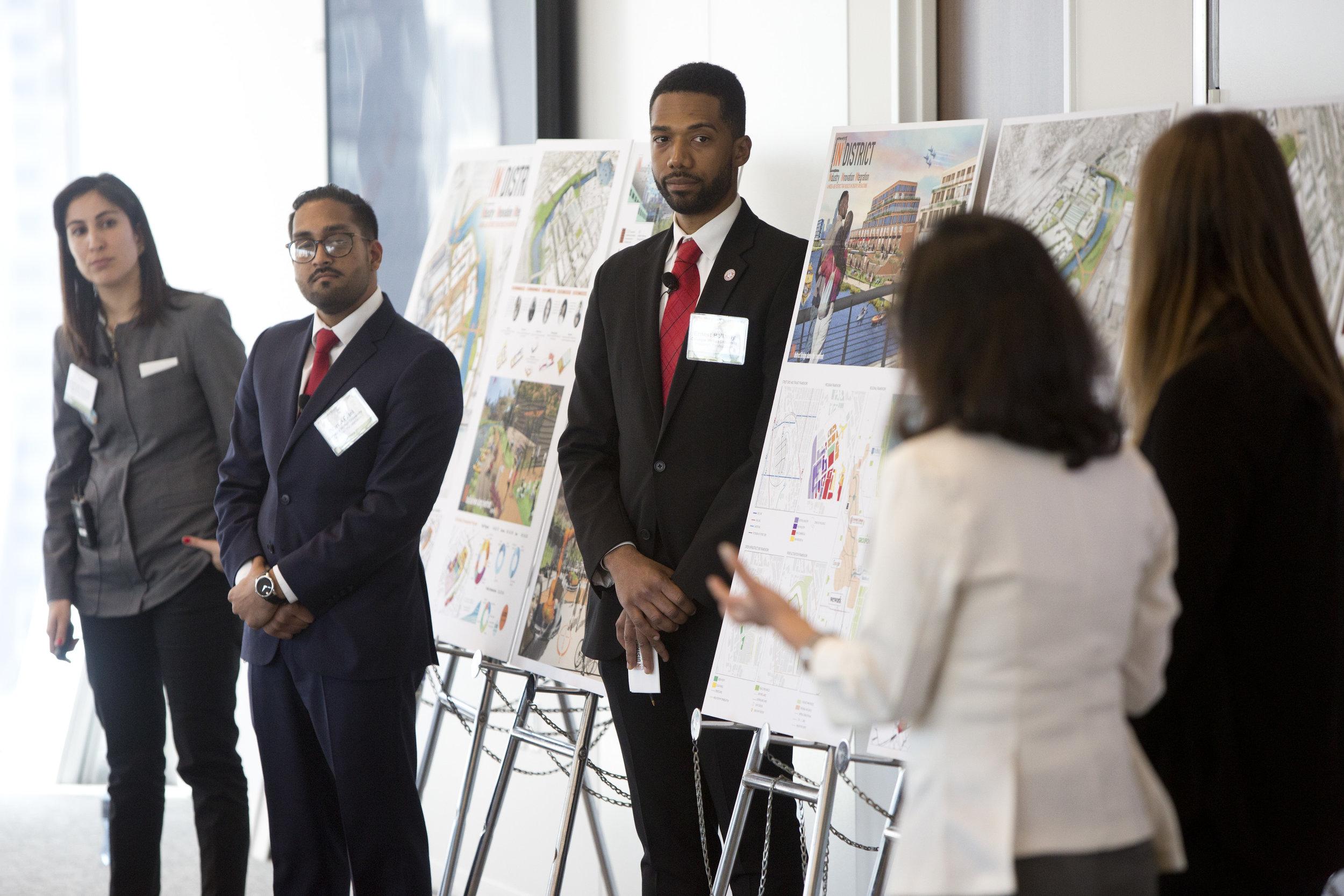 The CMU team presents their scheme IN-district.  Photo credit: ULI/Nathan Weber